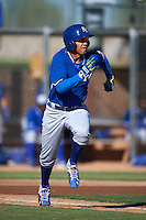 Kansas City Royals Jeison Guzman (38) during an instructional league game against the San Francisco Giants on October 23, 2015 at the Papago Baseball Facility in Phoenix, Arizona.  (Mike Janes/Four Seam Images)