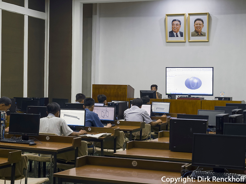 Studienhalle des Volkes am Kim il Sung-Platz, Pyongyang, Nordkorea, Asien<br /> People's stugy hallat Kim il Sung square, Pyongyang, North Korea, Asia