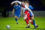 St Johnstone v Inverness Caledonian Thistle.....25.04.11.Shane Sutherland holds off Murray Davidson.Picture by Graeme Hart..Copyright Perthshire Picture Agency.Tel: 01738 623350  Mobile: 07990 594431