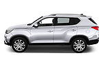 Car driver side profile view of a 2018 Ssangyong Rexton Sapphire 5 Door SUV