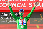 Joao Almeida (POR) Deceuninck-Quick Step takes over the points Green Jersey at the end of Stage 2 of the 2021 UAE Tour running 13km around Al Hudayriyat Island, Abu Dhabi, UAE. 22nd February 2021.  <br /> Picture: LaPresse/Fabio Ferrari | Cyclefile<br /> <br /> All photos usage must carry mandatory copyright credit (© Cyclefile | LaPresse/Fabio Ferrari)
