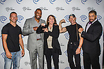 Ray Molinere, Darren Woodson, Carole Hart, Jay Paul Molinere and David Otunga at the Time Warner Media Cabletime Upfront media event held at the Private Social Restaurant  in Dallas, Texas.