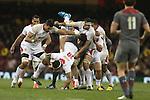 Ryan Jones tackles Hale T Pole<br /> Dove Men Series 2013<br /> Wales v Tonga<br /> Millennium Stadium - Cardiff<br /> 22.11.13<br /> ©Steve Pope-SPORTINGWALES