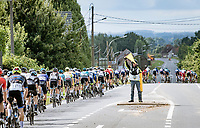 road safety marchal at work<br /> <br /> Grote Prijs Marcel Kint 2021<br /> One day race from Zwevegem to Kortrijk (196km)<br /> <br /> ©kramon