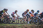 The peloton including Newly crowned World Champion Anna Van der Breggen (NED) Boels Dolmans Cyclingteam during La Fleche Wallonne Femmes 2020, running 124km from Huy to Mur de Huy, Belgium. 30th September 2020.<br /> Picture: ASO/Thomas Maheux | Cyclefile<br /> All photos usage must carry mandatory copyright credit (© Cyclefile | ASO/Thomas Maheux)
