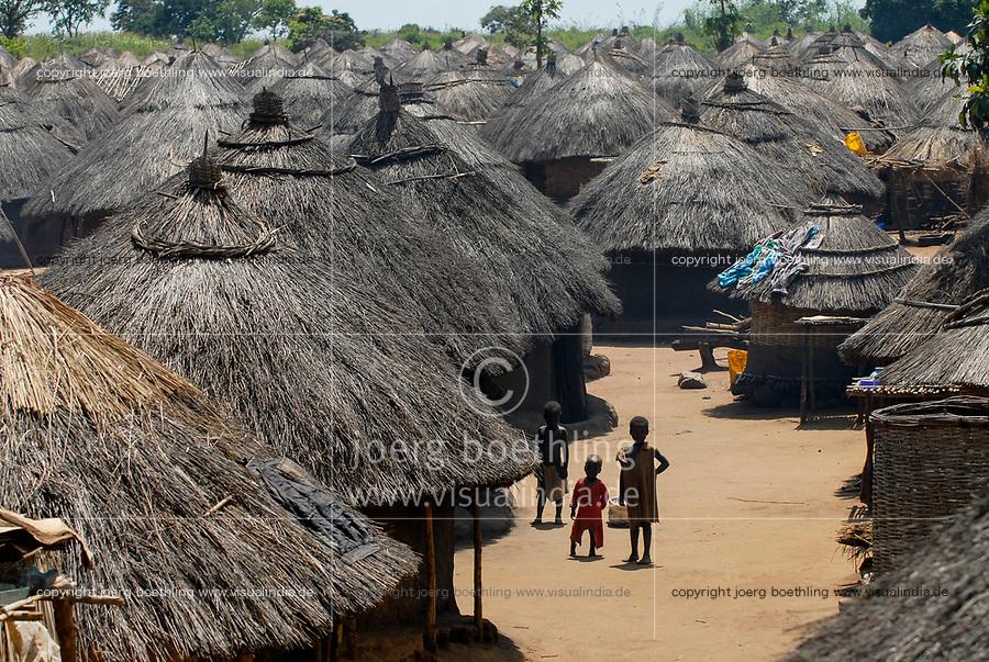 UGANDA, Kitgum, IDP camp, Internal displaced People from war between LRA Lords resistance army and Uganda army