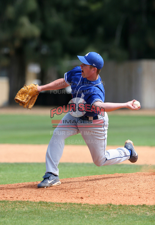 Los Angeles Dodgers minor leaguer David Preziosi during Spring Training at Dodgertown on March 23, 2007 in Vero Beach, Florida.  (Mike Janes/Four Seam Images)