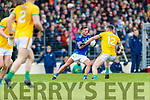 Micheál Burns, Kerry in action against Ethan Devine, Meath during the Allianz Football League Division 1 Round 4 match between Kerry and Meath at Fitzgerald Stadium in Killarney, on Sunday.