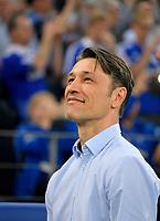 18.04.2018, Football DFB Pokal 2017/2018, semi final , FC Schalke 04 - Eintracht Frankfurt, in Veltins Arena auf Schalke. Trainer Niko Kovac (Eintracht Frankfurt) smiles. *** Local Caption *** © pixathlon<br /> <br /> Contact: +49-40-22 63 02 60 , info@pixathlon.de