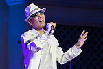 A man sings Michael Jackson's songs during the MJ A-Live! at Odaiba on June 21, 2015, Tokyo, Japan. MJ A-Live! is an annual tribute to Michael Jackson in Tokyo, where fans wear Michael Jackson costumes and dance to the choreographies of the King of Pop who died on June 25, 2009. (Photo by Rodrigo Reyes Marin/AFLO)