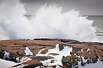 Storm waves at Schoodic Point in Acadia National Park, ME