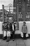 Lerwick Shetland Islands Welcome to Shetland sign. 1970s