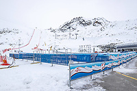 15th October 2020, Rettenbachferner, Soelden, Austria; FIS World Cup Alpine Skiing free practise  training;  Overview during preparations of the course