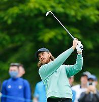 2nd July 2021; Mount Juliet Golf Club, Kilkenny, Ireland; Dubai Duty Free Irish Open Golf, Day Two; Tommy Fleetwood of England tees off on the 14th hole