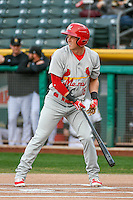 Charlie Tilson (16) of the Memphis Redbirds at bat against the Salt Lake Bees in Pacific Coast League action at Smith's Ballpark on May 24, 2016 in Salt Lake City, Utah. The Bees defeated the Redbirds 7-5. (Stephen Smith/Four Seam Images)