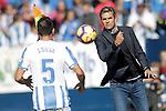 CD Leganes' coach Mauricio Pellegrino (r) and Jonathan Silva during La Liga match. November 3,2018. (ALTERPHOTOS/Acero)