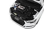 Car Stock 2017 Audi S3 Premium-Plus 4 Door Sedan Engine  high angle detail view