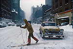 MANHATTAN NEW YORK 1970S WINTER SNOW USA