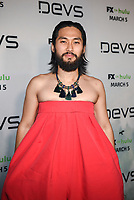"""LOS ANGELES - MARCH 2: Jin Ha attends the premiere of the new FX limited series """"Devs"""" at ArcLight Cinemas on March 2, 2020 in Los Angeles, California. (Photo by Frank Micelotta/FX Networks/PictureGroup)"""