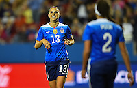 Frisco, TX. - February 15, 2016: The U.S. Women's National team takes 7-0 lead over Puerto Rico in second half action in CONCACAF Women's Olympic Qualifying at Toyota Stadium.