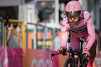 Nairo Quintana (COL/Movistar) finishing in his Maglia Rosa, but ultimately losing it to Tom Dumoulin after the closing time trial into Milano<br /> <br /> stage 21: Monza - Milano (29km)<br /> 100th Giro d'Italia 2017