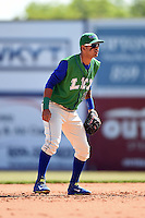 Lexington Legends shortstop Humberto Arteaga (1) in the field during a game against the Hagerstown Suns on May 19, 2014 at Whitaker Bank Ballpark in Lexington, Kentucky.  Lexington defeated Hagerstown 10-8.  (Mike Janes/Four Seam Images)