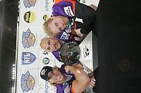 J.R. Niklos, Matt Sinclair und Martin Latka (alle Frankfurt Galaxy)