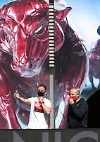 16th May 2020, Red Bull Arena, Leipzig, Germany; Bundesliga football, Leipzig versus FC Freiburg;  Before the match Head Coach Julian Nagelsmann RBL and Head Coach Christian Streich SCF
