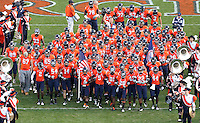 Nov 13, 2010; Charlottesville, VA, USA;  Virginia Cavaliers enter the field before the start of the game against Maryland Terrapins at Scott Stadium.  Mandatory Credit: Andrew Shurtleff