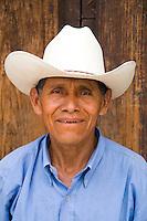 Local Honduran man with cowboy hat in Copan Ruinas Hondura