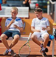 August 9, 2014, Netherlands, Rotterdam, TV Victoria, Tennis, National Junior Championships, NJK, Boys 12 years final: Daan Hendriks(L) and Jens Hoogendam (NED) <br /> Photo: Tennisimages/Henk Koster