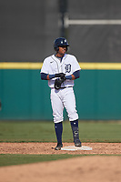 Detroit Tigers Adinso Reyes (25) during a Florida Instructional League game against the Toronto Blue Jays on October 28, 2020 at Joker Marchant Stadium in Lakeland, Florida.  (Mike Janes/Four Seam Images)