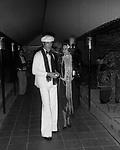 FREDERICK VREELAND CON LA MOGLIE<br /> FESTA A TEMA ANNI 20- JACKIE O' ROMA 1974
