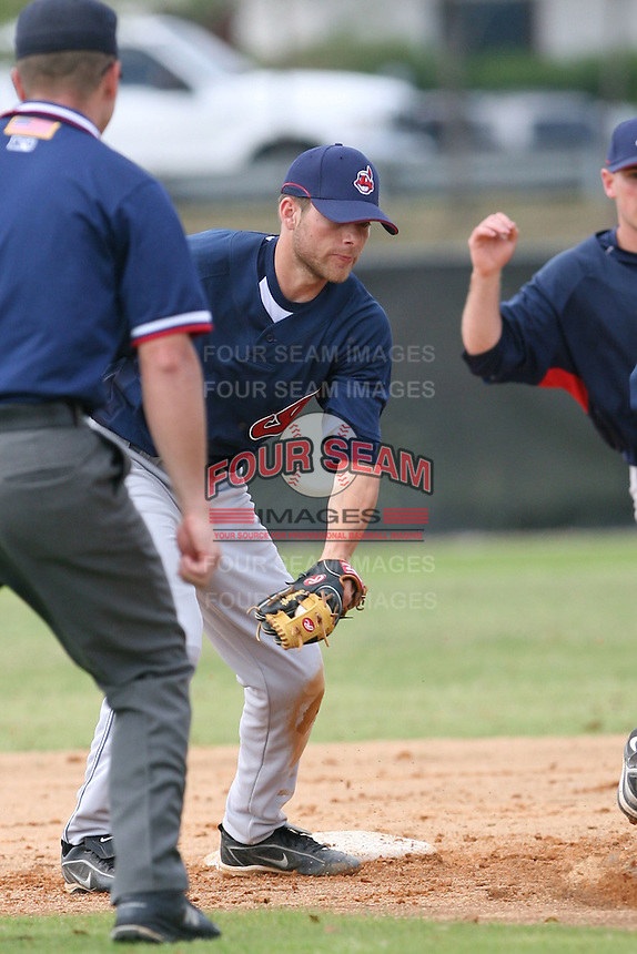 March 20th 2008:  David Uribes of the Cleveland Indians minor league system during Spring Training at Chain of Lakes Training Complex in Winter Haven, FL.  Photo by:  Mike Janes/Four Seam Images