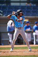 Inland Empire 66ers Jordyn Adams (9) at bat during a California League game against the Rancho Cucamonga Quakes at LoanMart Field on September 2, 2019 in Rancho Cucamonga, California. Rancho Cucamonga defeated Inland Empire 4-3. (Zachary Lucy/Four Seam Images)