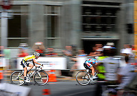 HTC Highroad Women's Judith Arndt (Germany). NZCT Women's Cycling Tour of New Zealand Stage 6 - Criterium at Lambton Quay, Wellington, New Zealand on Sunday, 27 February 2011. Photo: Dave Lintott / lintottphoto.co.nz