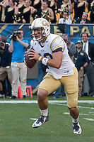 Georgia Tech quarterback Tim Byerly. The Georgia Tech Yellow Jackets defeated the Pitt Panthers 56-28 at Heinz Field, Pittsburgh Pennsylvania on October 25, 2014.