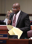 Nevada Assemblyman William Horne, D-Las Vegas, speaks on the Assembly floor Thursday, May 26, 2011, at the Legislature in Carson City, Nev. .Photo by Cathleen Allison