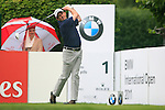 Peter Lawrie (IRL) tees off on the 1st tee to start his round during of Day 3 of the BMW International Open at Golf Club Munchen Eichenried, Germany, 25th June 2011 (Photo Eoin Clarke/www.golffile.ie)