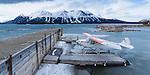 Float plane on  Atlin Lake April