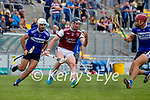 /b/in action against Bryan Murphy, Causeway, during the County Senior hurling Semi-Final between St. Brendans and Causeway at Austin Stack park on Sunday.