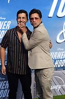 "LOS ANGELES - JUL 15:  Josh Peck, John Stamos at Disney+ ""Turner & Hooch"" Premiere Event at Westfield Century City Mall on July 15, 2021 in Century City, CA"