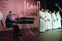 Montreal (qc) CANADA - file Photo - 1992 - <br /> Union des Municipalites du Quebec convention in April - performance by Gregory Charles and his choir