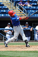 Auburn Doubledays outfielder Jordan Poole (31) during game against the Staten Island Yankees at Richmond County Bank Ballpark at St.George on August 2, 2012 in Staten Island, NY.  Auburn defeated Staten Island 11-3.  Tomasso DeRosa/Four Seam Images