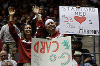BERKELEY, CA - MARCH 30: Stanford fans cheering during Stanford's 74-53 win against the Iowa State Cyclones on March 30, 2009 at Haas Pavilion in Berkeley, California.