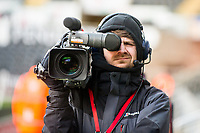 Cameraman <br /> Re: Behind the Scenes Photographs at the Liberty Stadium ahead of and during the Premier League match between Swansea City and Bournemouth at the Liberty Stadium, Swansea, Wales, UK. Saturday 25 November 2017