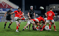 12 December 2020; Nick McCarthy clears the Muster line during the A series inter-pros series 20-21 between Ulster A and Munster A at Kingspan Stadium, Ravenhill Park, Belfast, Northern Ireland. Photo by John Dickson/Dicksondigital