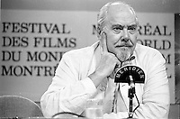 Augsut 31 1987 File Photo - Montreal (Qc) Canada - Filmmaker Robert Altman at Montreal World Film Festival.
