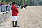 HOT SPRINGS, AR - April 16: Track bugler Chris Holt watches the ponies as he waits to play Call to Post for the Northern Spur Stakes at Oaklawn Park on April 16, 2016 in Hot Springs, AR. (Photo by Ciara Bowen/Eclipse Sportswire/Getty Images)