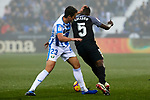 CD Leganes' Mikel Vesga and Sevilla FC's Ibrahim Amadou during La Liga match between CD Leganes and Sevilla FC at Butarque Stadium in Leganes, Spain. December 23, 2018. (ALTERPHOTOS/A. Perez Meca)